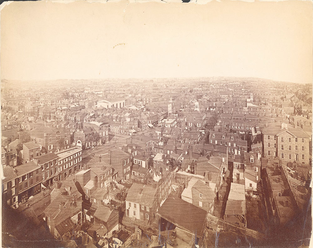 Panorama of Philadelphia, northwest view