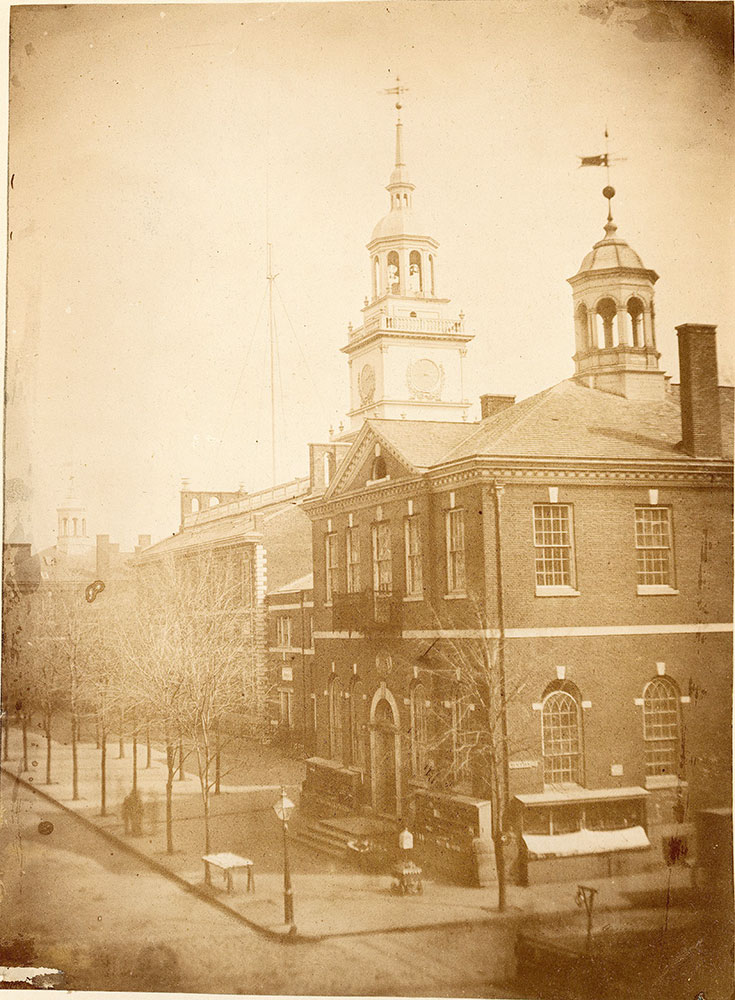 Congress Hall, the State House and Old City Hall, Chestnut Street at 6th, c. 1855