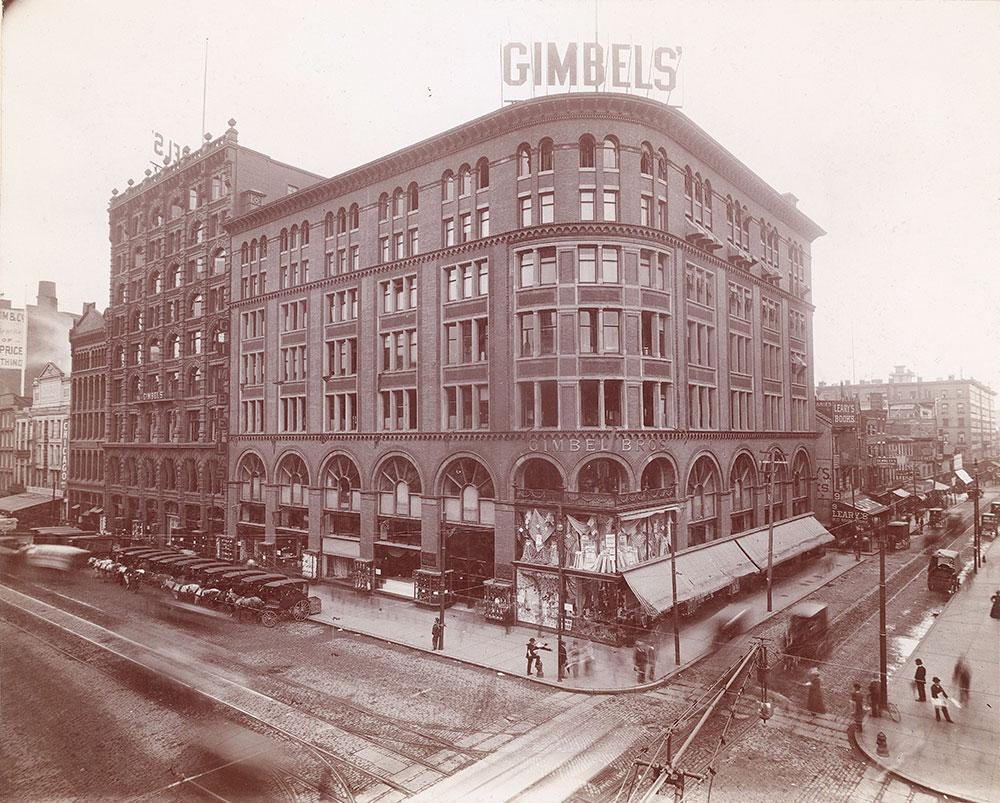 Gimbel Brothers, Market Street at 9th, Southeast corner