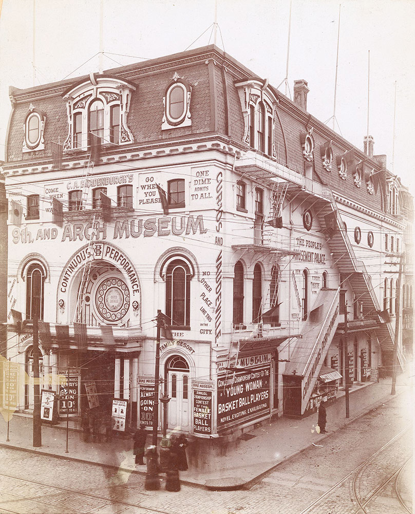 C.A. Bradenburgh's Museum, 9th and Arch Streets