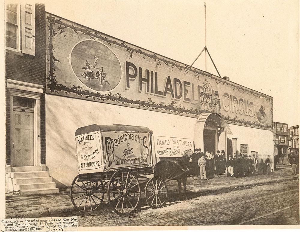 Philadelphia Circus, Callowhill Street at 10th