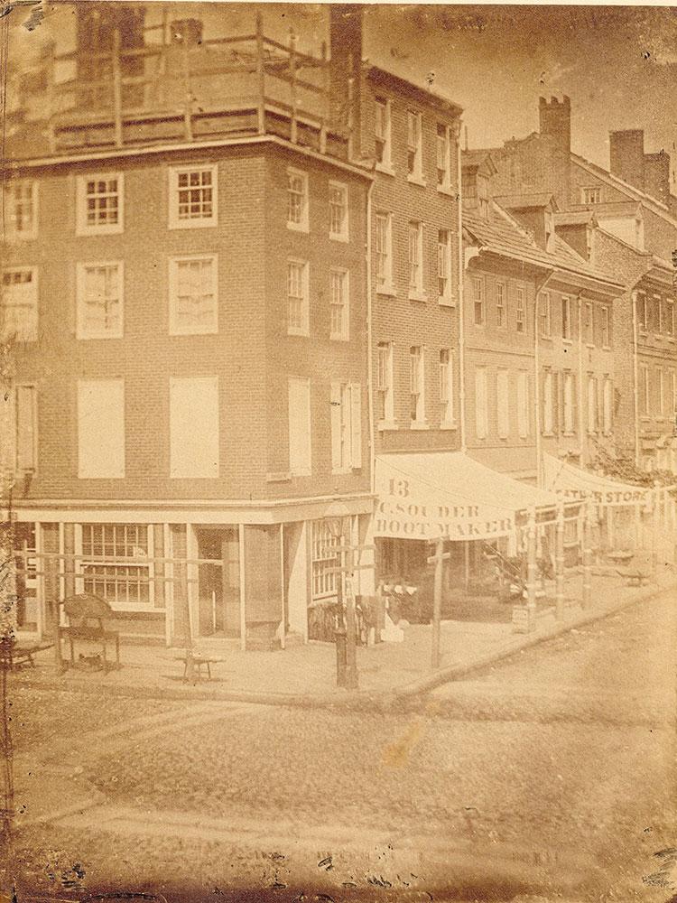 Chestnut Street at 2nd, northeast corner