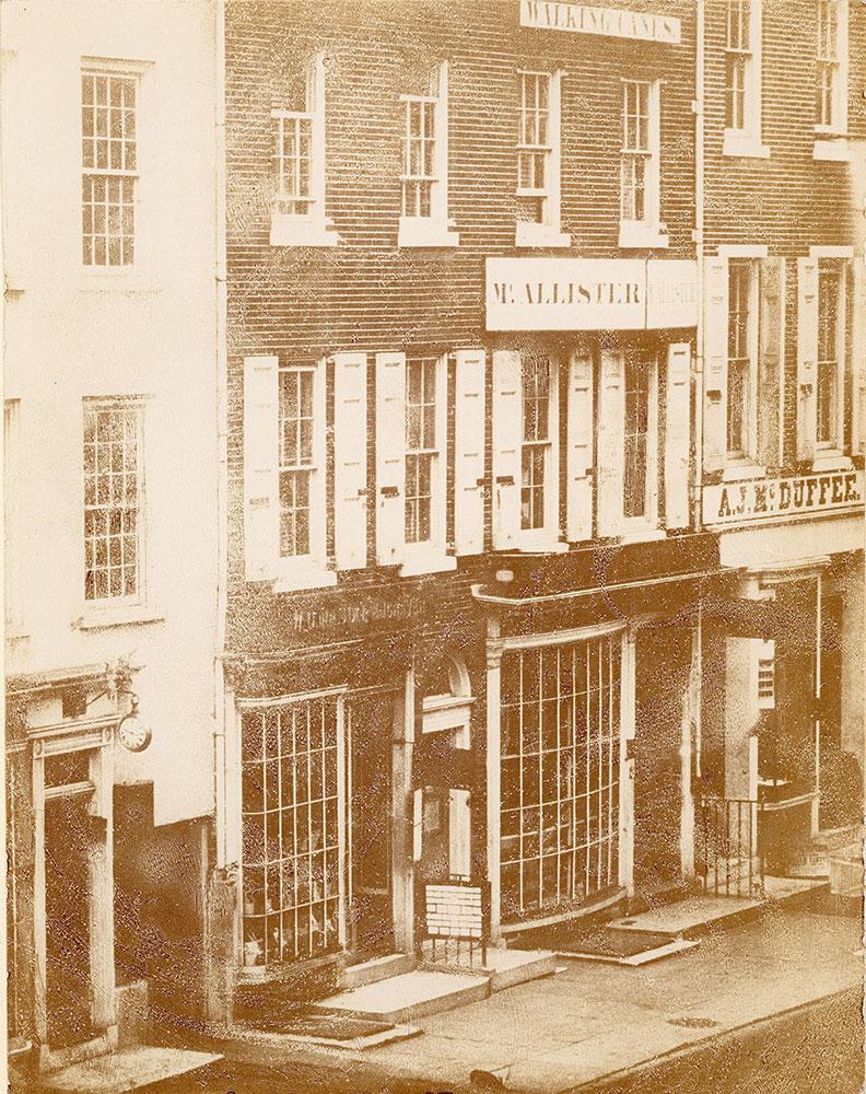 John McAllister's store, 48 Chestnut Street