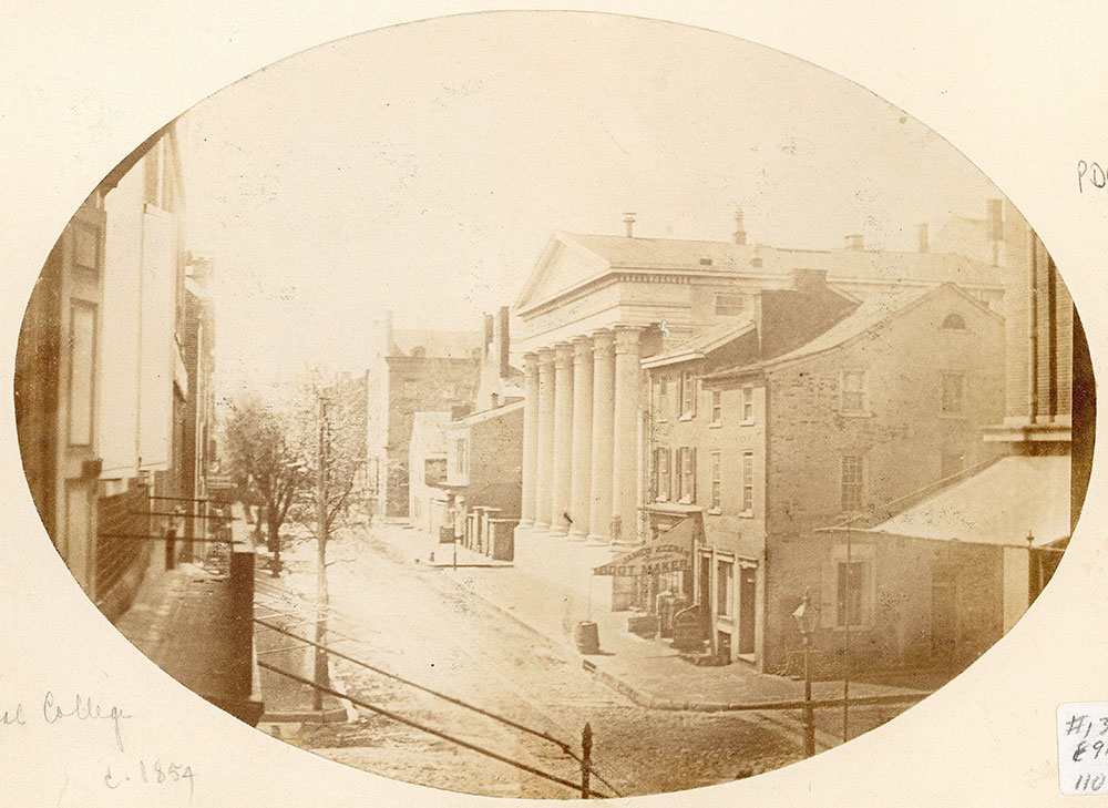 View of 10th Street, south from Sansom