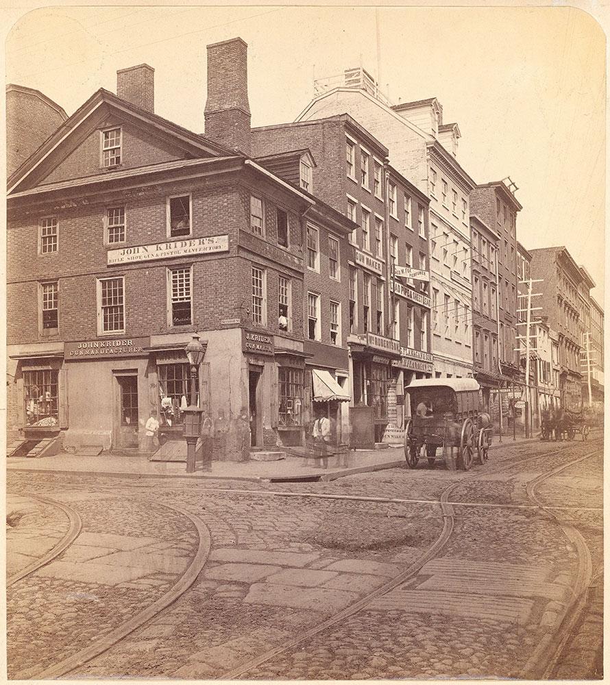 John Krider's Shop, Walnut Street at 2nd
