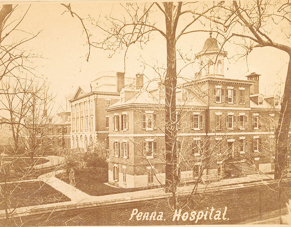Pennsylvania Hospital, Pine Street, from 8th to 9th