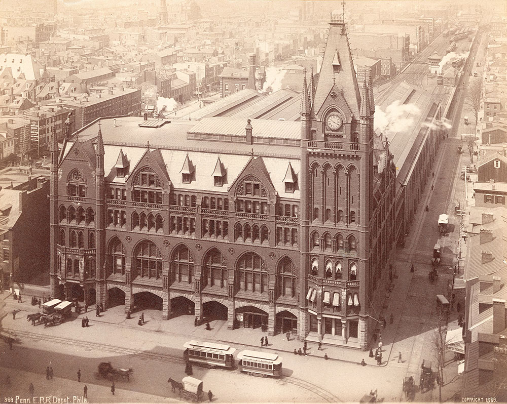 Pennsylvania Railroad Station, Market Street west at Penn Square