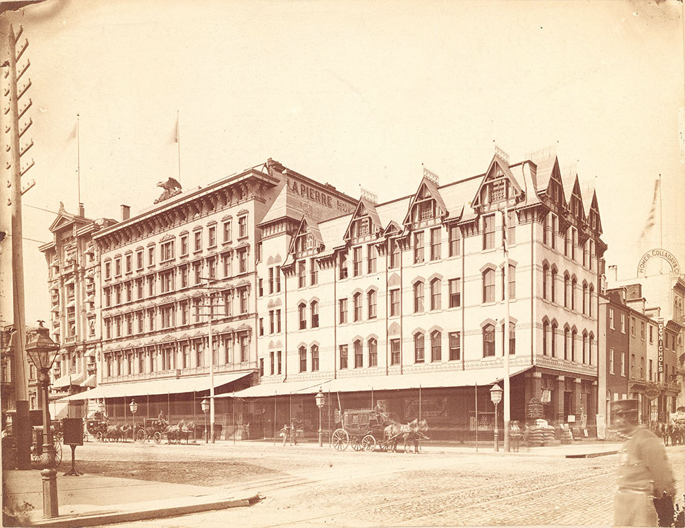 Broad and Chestnut Streets, southwest corner