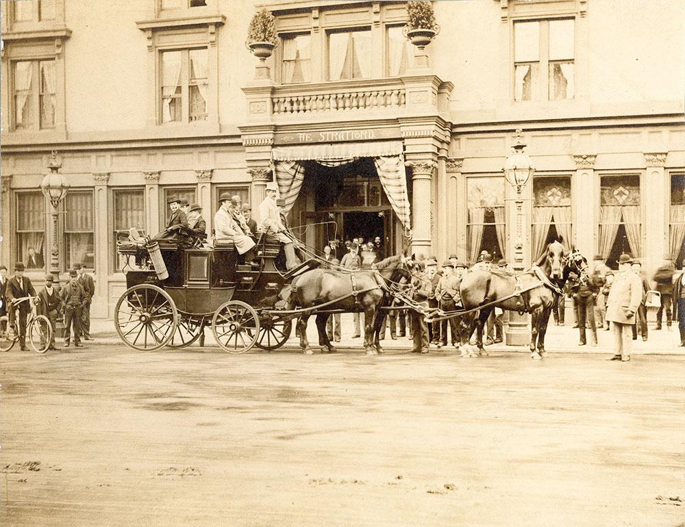 Stratford Hotel, Broad Street at Walnut, southwest corner