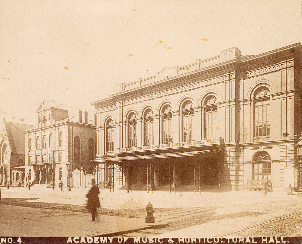Academy of Music and Horticultural Hall, Broad Street at Locust