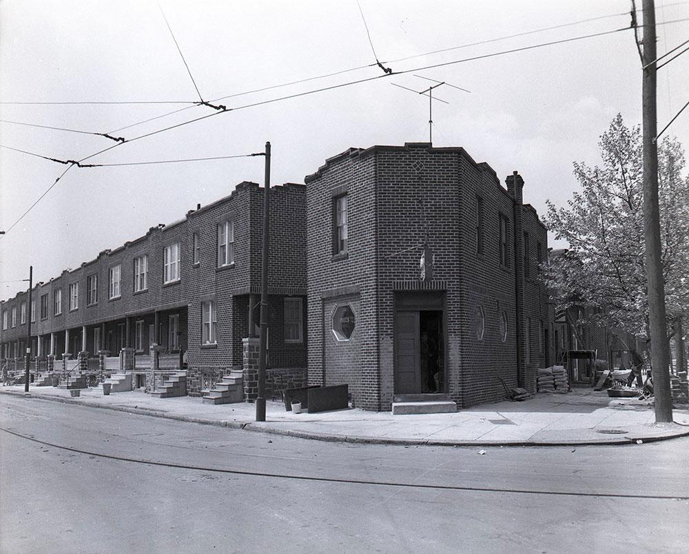 Moyamensing Avenue and 16th Street. Southwest corner