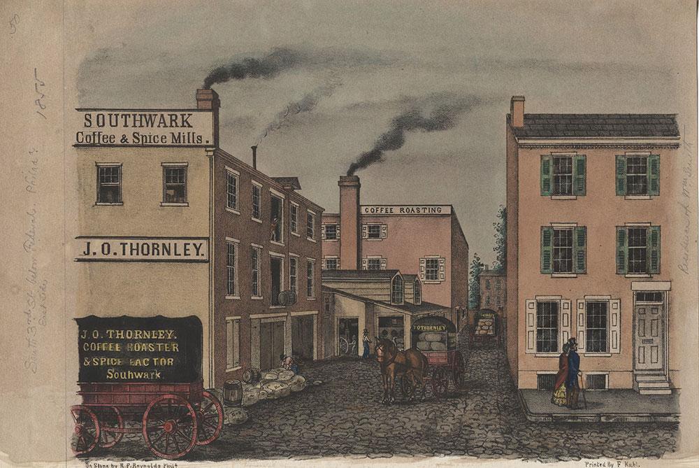[Southwark Coffee & Spice Mills. J. O. Thornley.] [graphic] / On stone by R.F. Reynolds Phila.