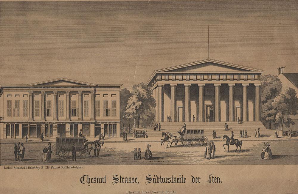 Chestnut Strasse, Sudwetseite der 4th.= Chestnut Street, west of Fourth. [graphic].