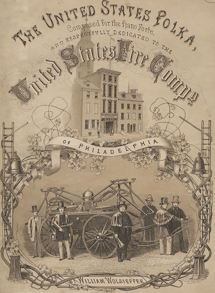 The United States Polka, [graphic] / Composed for the piano forte and respectfully dedicated to the United States Fire Compy of Philadelphia by William Wolsieffer