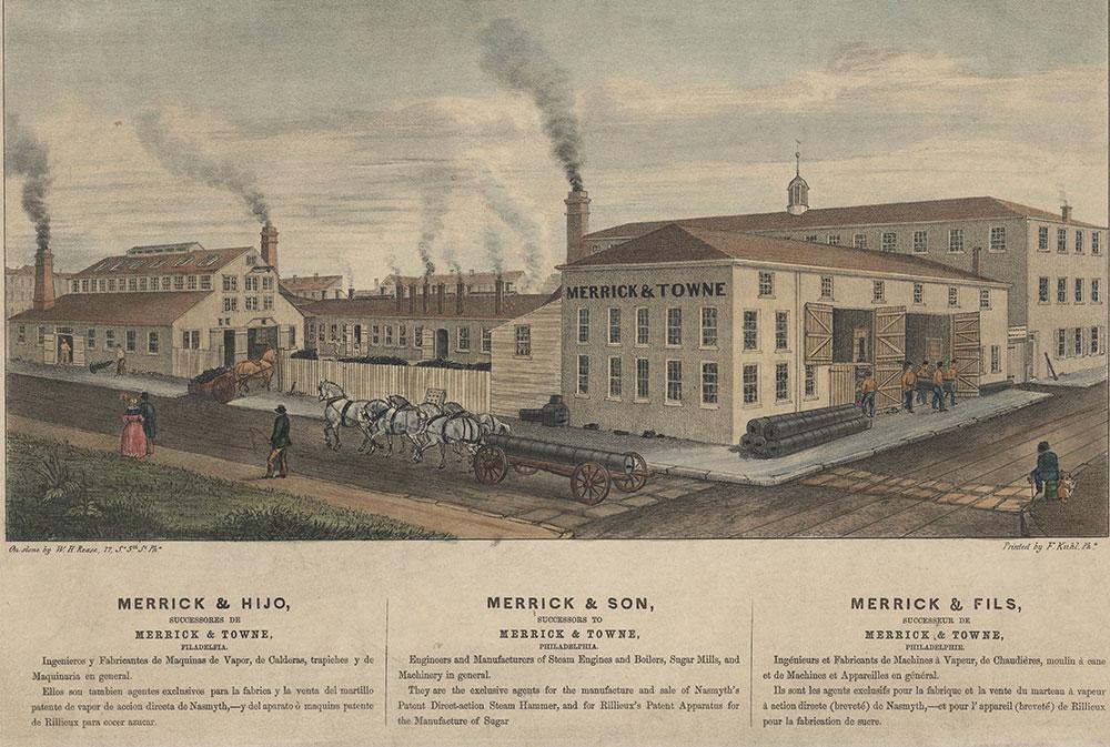 Merrick & Hijo, Succesores De Merrick & Towne, Filadelfia. = Merrick & Son, successors to Merrick & Towne, Philadelphia. = Merrick & Fils, Successeur De Merrick & Towne, Philadelphie. [graphic]