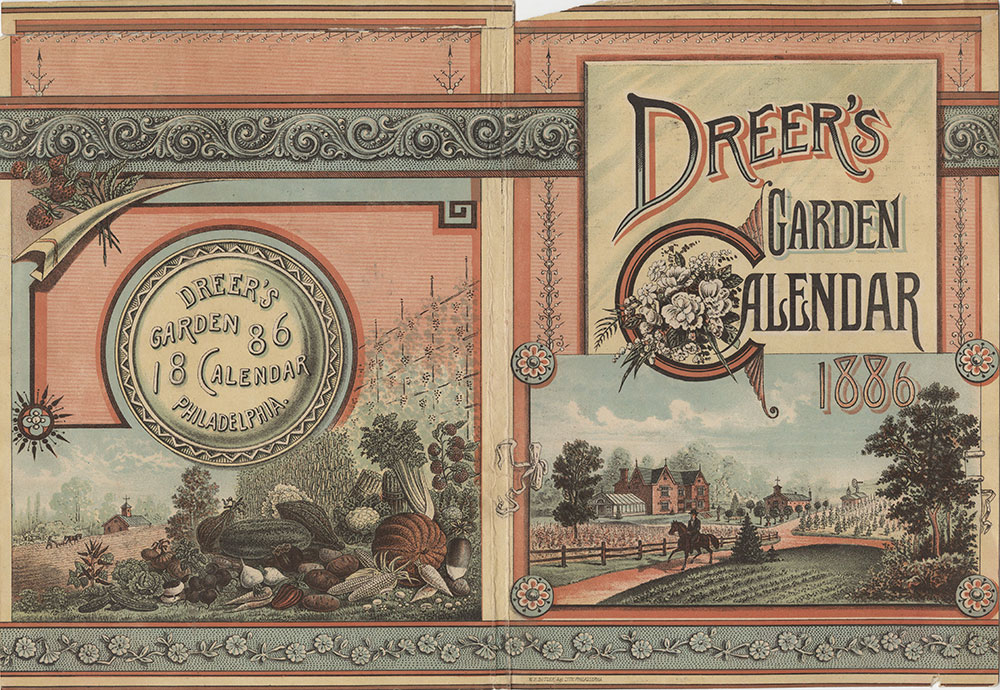 Dreer's garden calendar 1886 [catalog cover] [graphic].