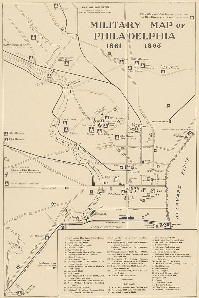 Military Map of Philadelphia, 1861-1865