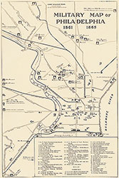Military Map of Philadelphia, 1861-1865