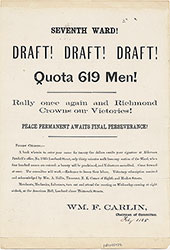 Seventh Ward!,  Draft! Draft! Draft!, Quota 619 Men!