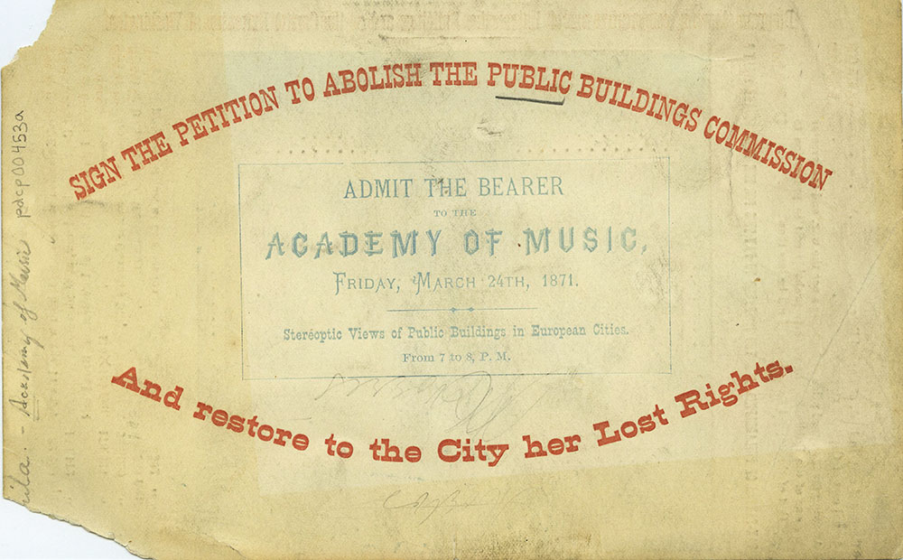 Academy of Music - Ticket - Front