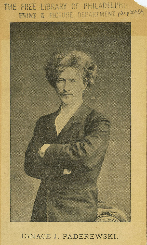 Academy of Music - Advertisment for Ignace J. Paderewski - Front