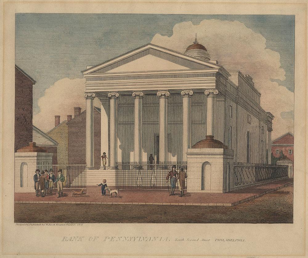 Birch's Views - Bank of Pennsylvania, South Second Street Philadelphia