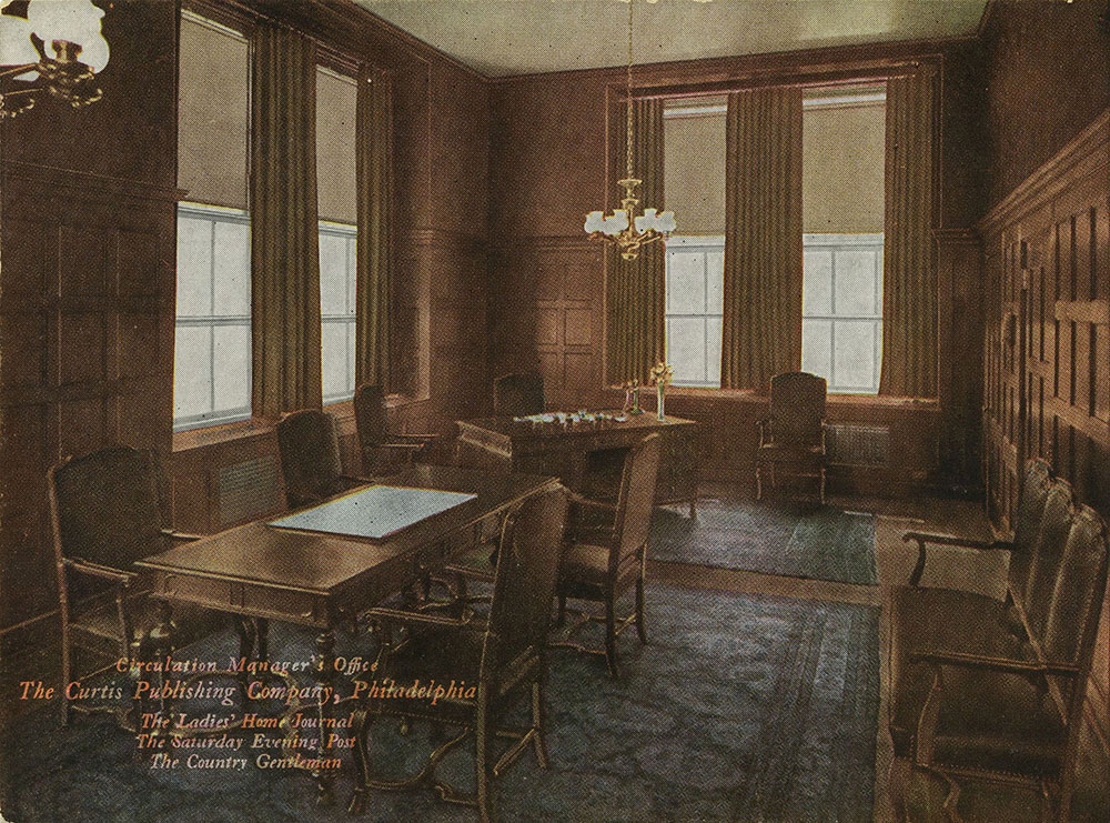 The Curtis Publishing Company - Circulation Manager's Office - Postcard