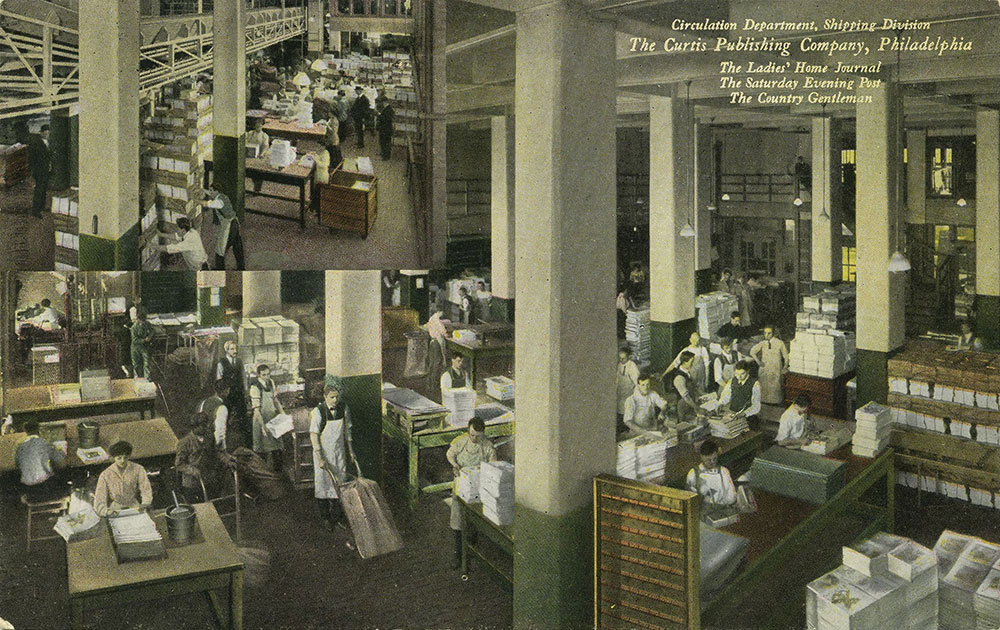 The Curtis Publishing Company - Circulation Department, Shipping Division - Postcard