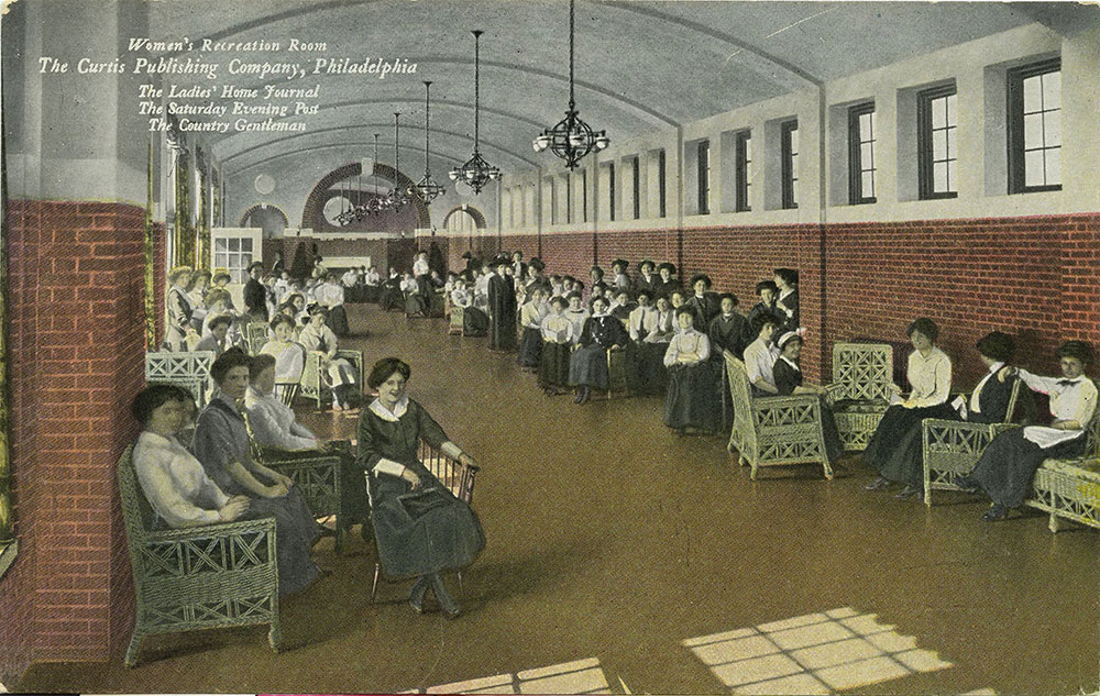 The Curtis Publishing Company - Women's Recreation Room - Postcard