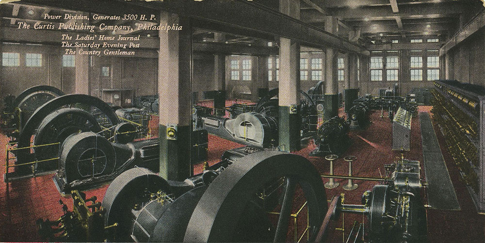 The Curtis Publishing Company - Power Division, Generates 3500 H.P. - Postcard