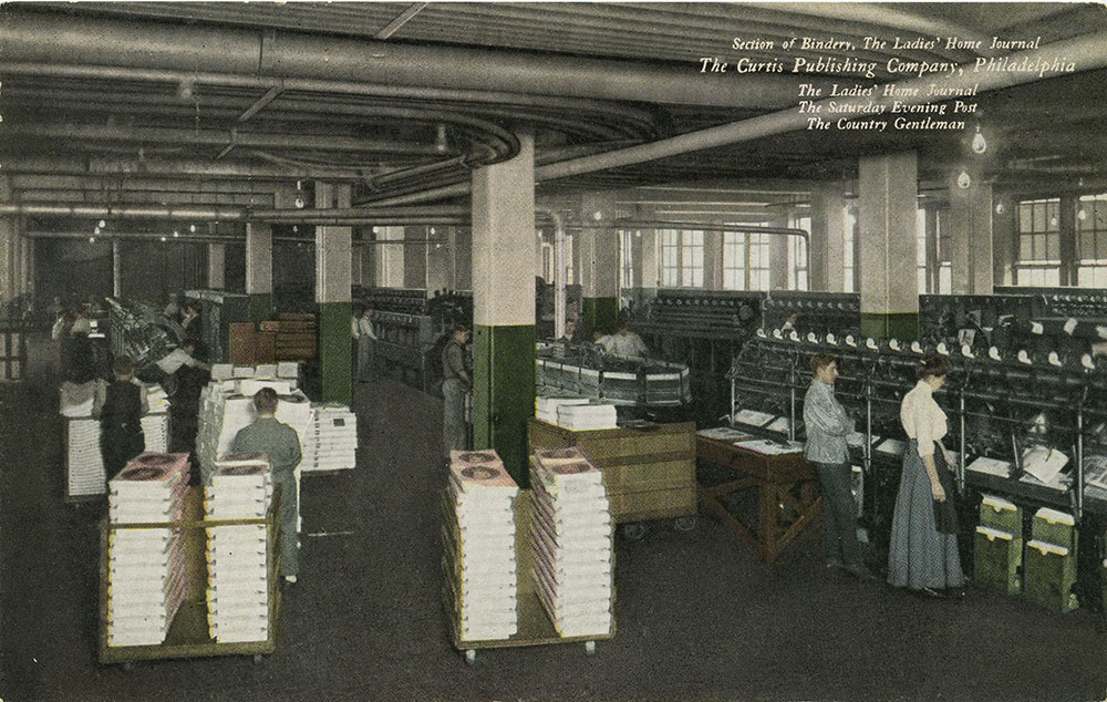 The Curtis Publishing Company - Section of Bindery - Postcard