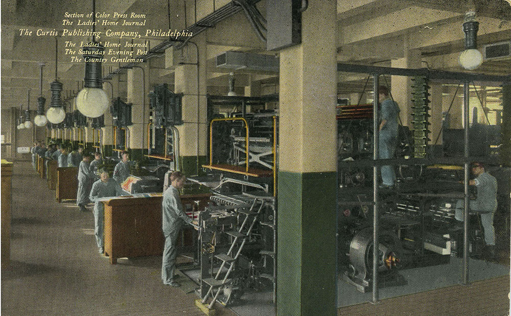 The Curtis Publishing Company - Section of Color Press Room - Postcard