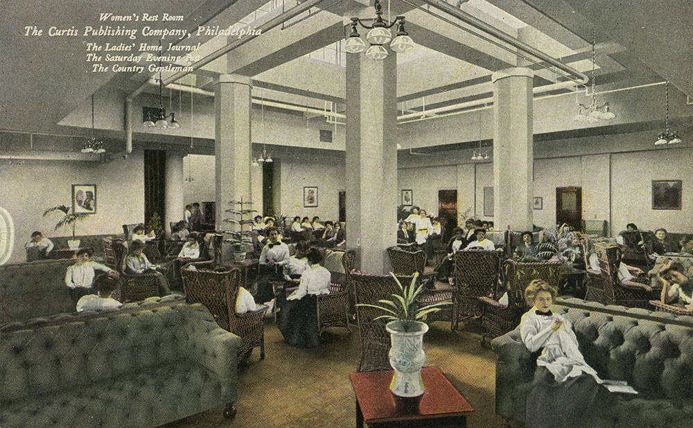The Curtis Publishing Company - Women's Rest Room - Postcard