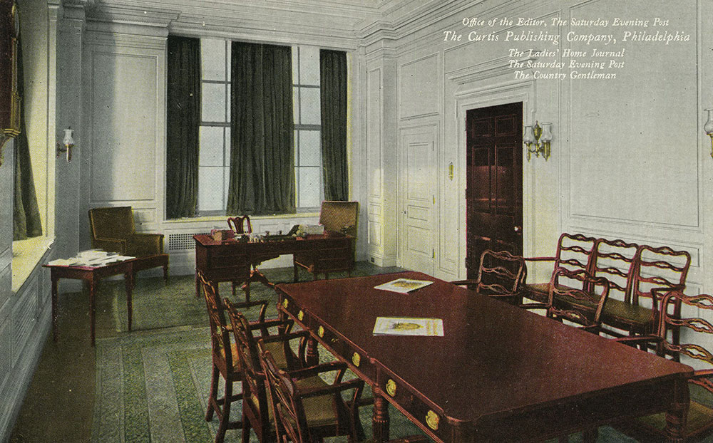The Curtis Publishing Company- Office of the Editor - Postcard