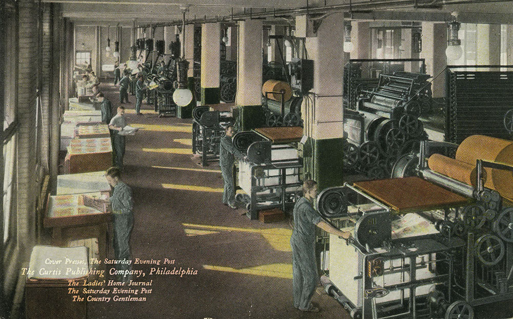 The Curtis Publishing Company - Cover Presses - Postcard