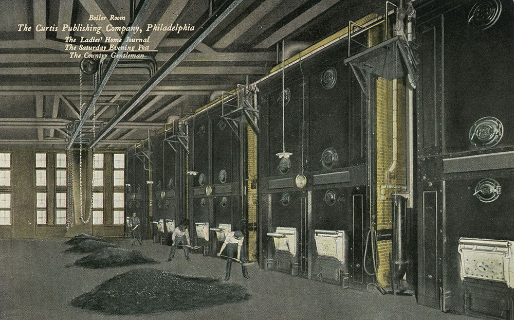 The Curtis Publishing Company - Boiler Room - Postcard