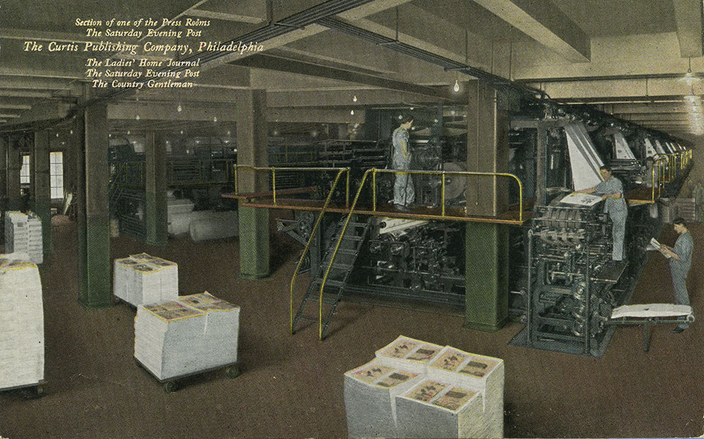 The Curtis Publishing Comapny - Section of one of the Press Rooms - Postcard