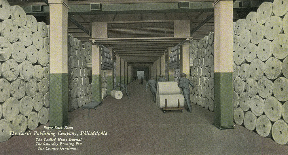 The Curtis Publishing Company - Paper Stock Room - Postcard