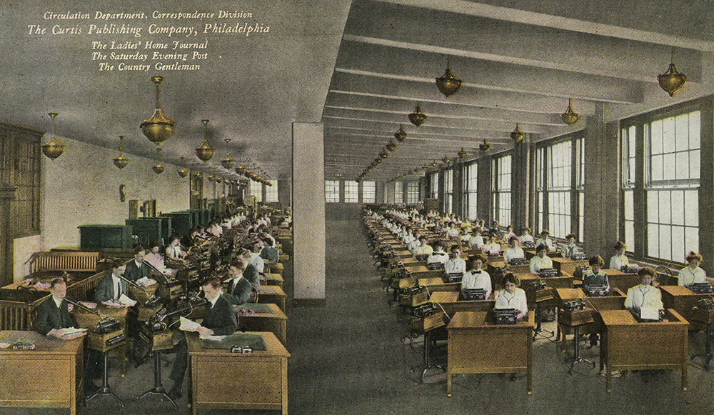 The Curtis Publishing Company - Circulation Department, Correspondence Division - Postcard