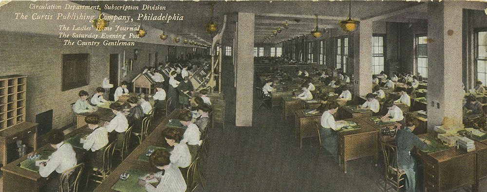 The Curtis Publishing Company - Circulation Department, Subscription Division - Postcard