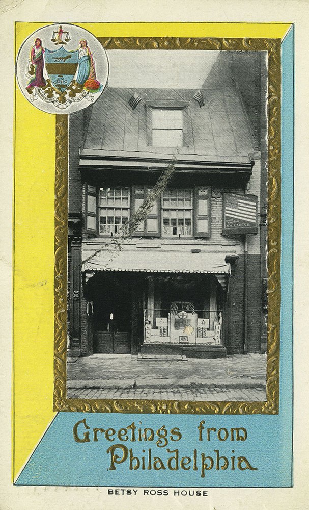 Greettings From Philadelphia - Betsy Ross House - Postcard
