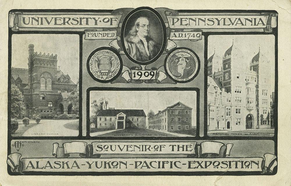 University of Pennsylvania - Alaska-Yukon-Pacific-Exposition Postcard