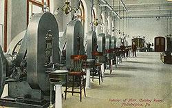 Philadelphia U.S. Mint Postcard - Interior