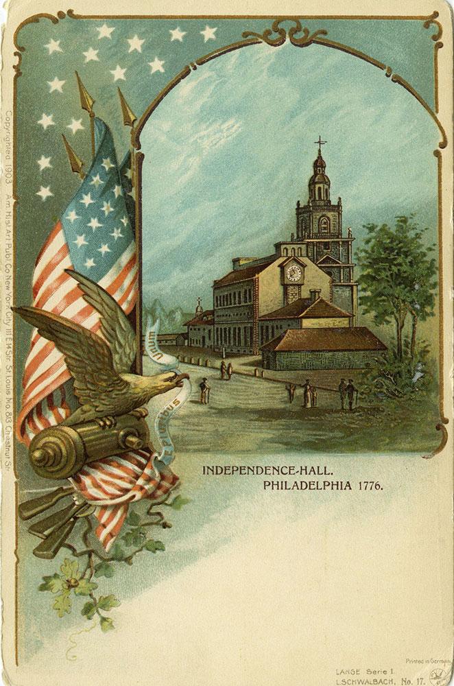 Independence Hall Philadelphia 1776 Postcard