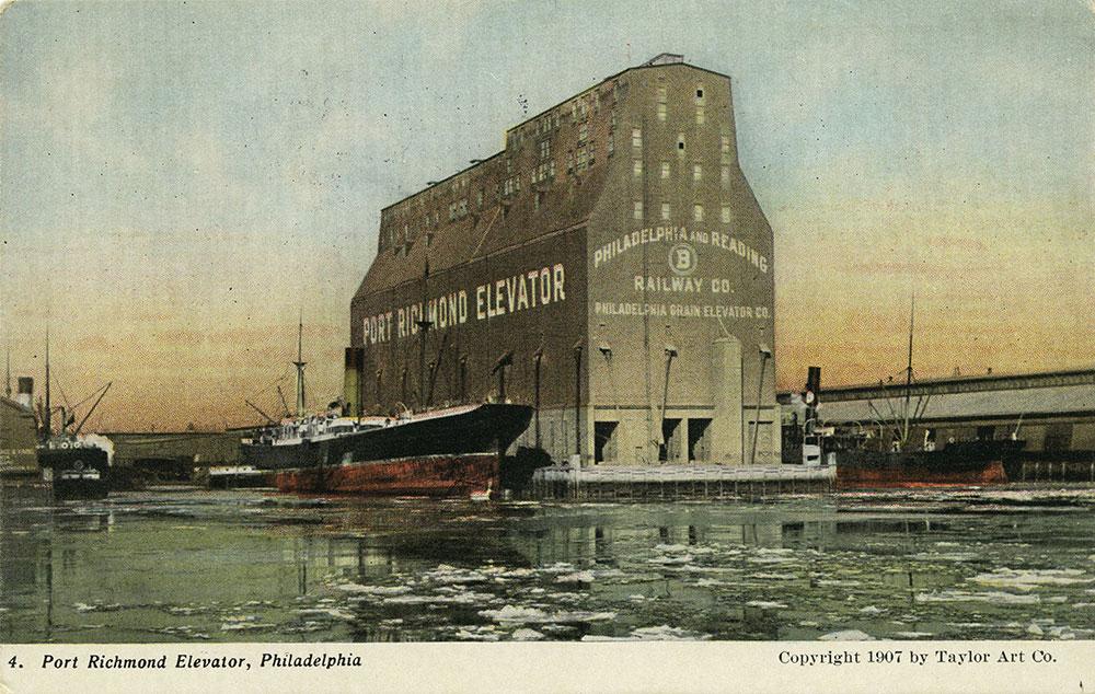 Port Richmond Grain Elevator Postcard