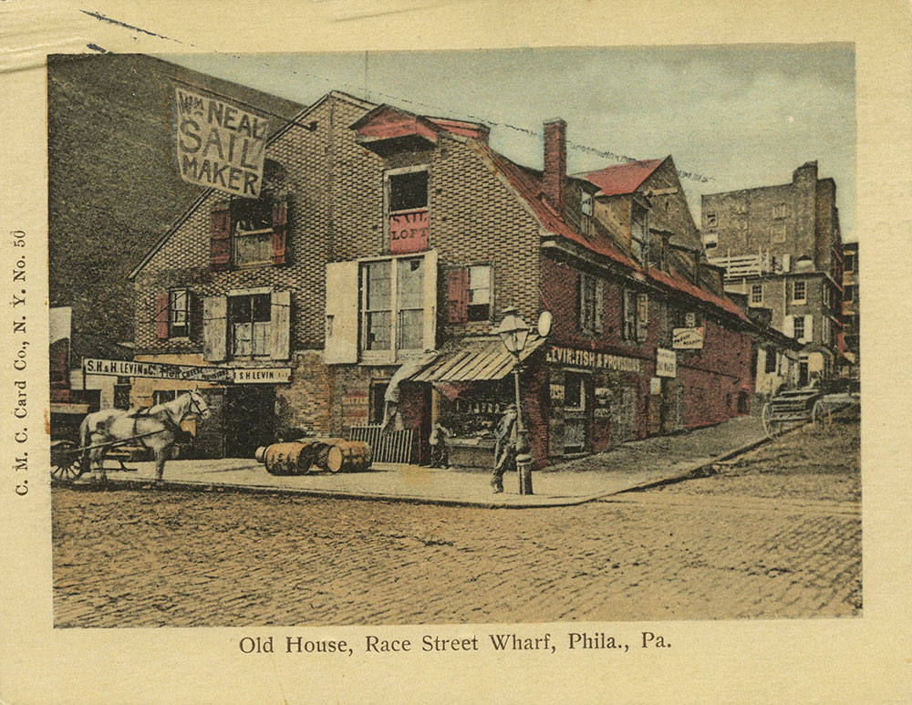 Race Street Wharf, Delaware Avenue at Race Street Postcard