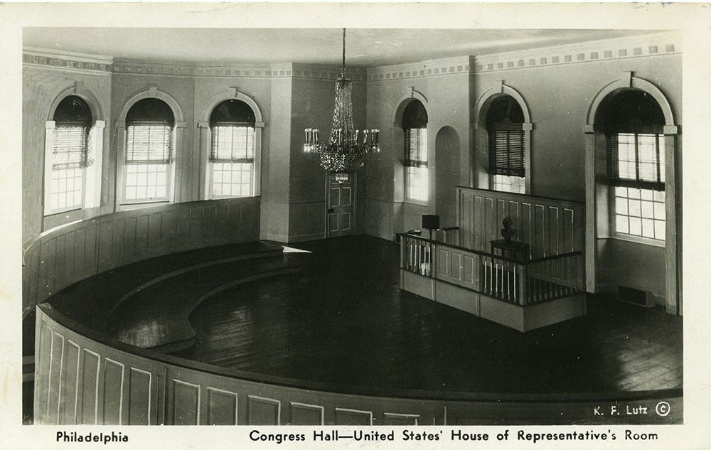 Congress Hall Interior Postcard