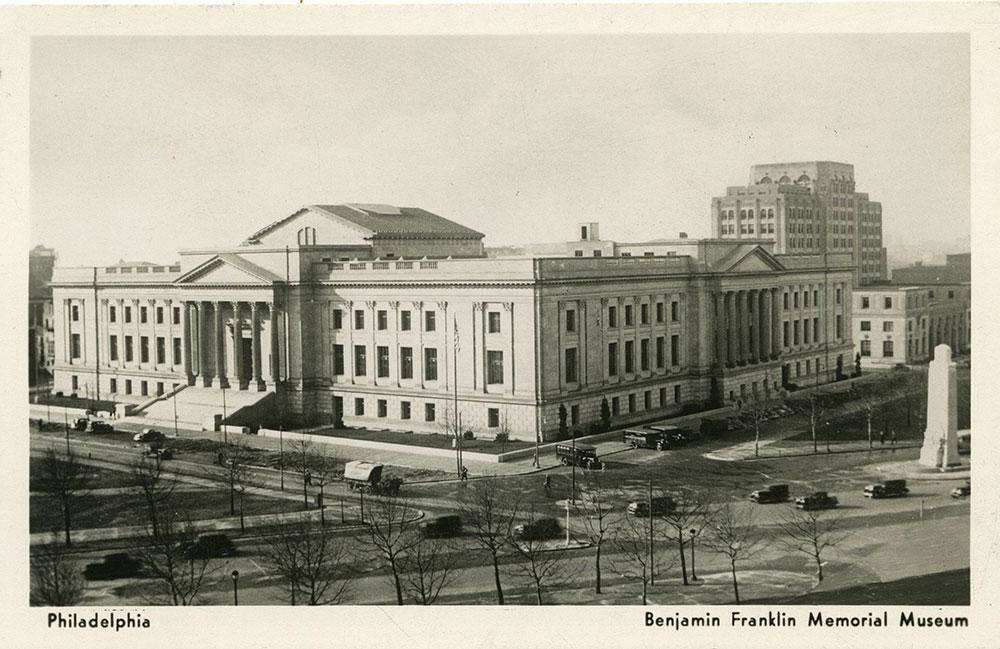 Benjamin Franklin Memorial Museum - Postcard