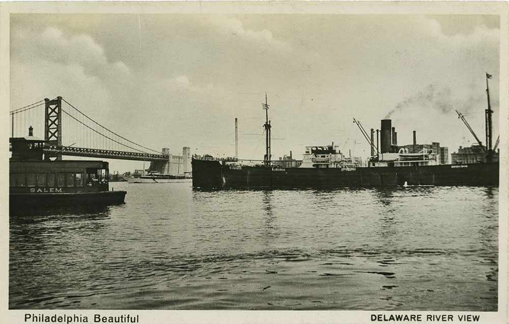 Philadelphia Harbor - Postcard