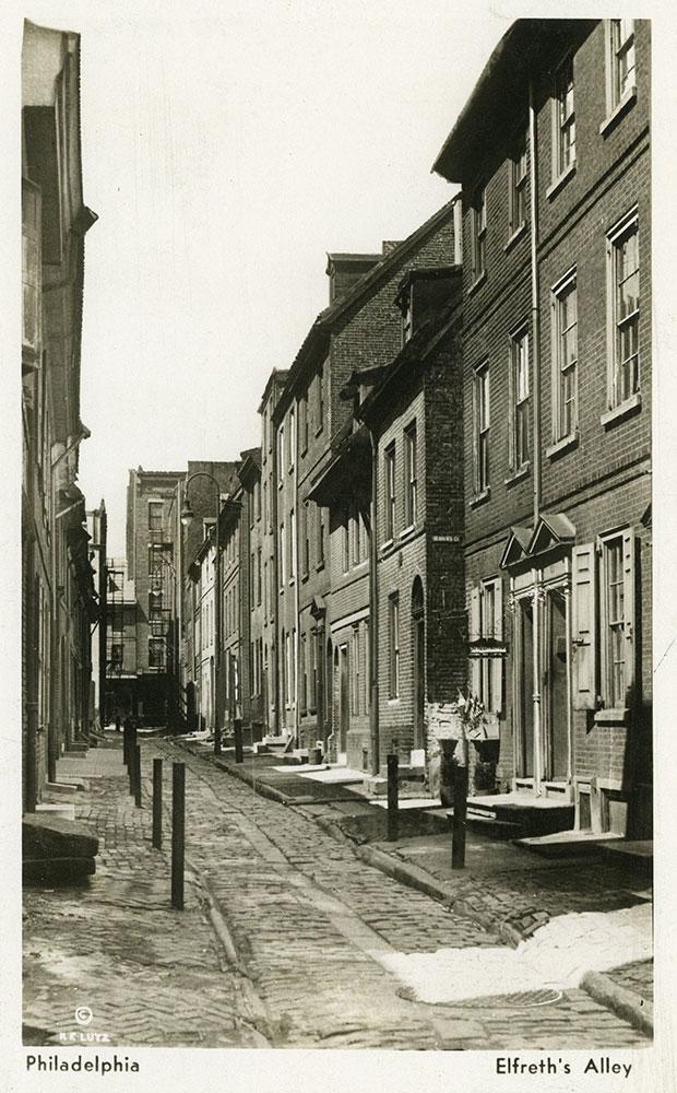 Elfreth's Alley - Postcard